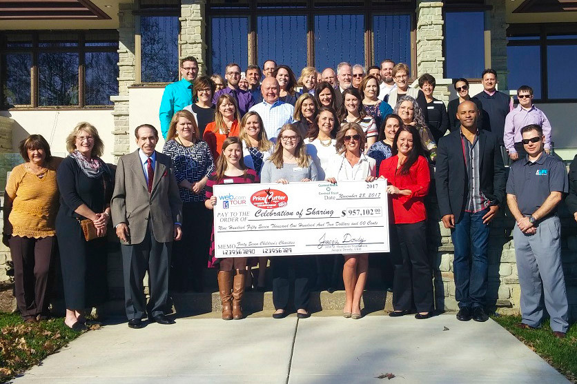 Price Cutter Charity Championship officials present nearly $1 million to local nonprofits.