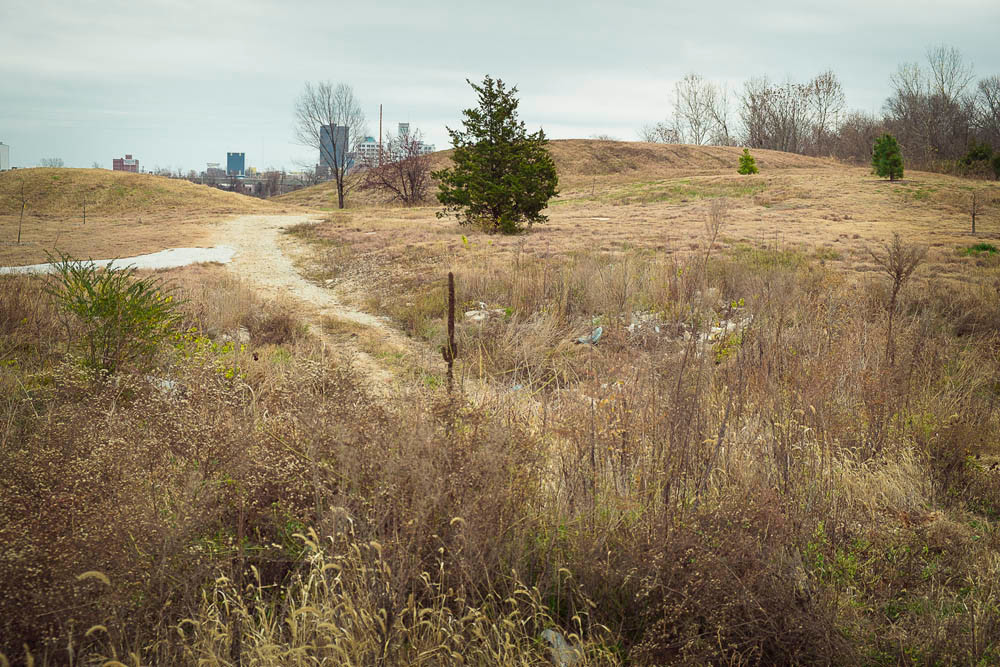 PARK ASPIRATIONS: Officials want to turn this area west of downtown into urban park space.