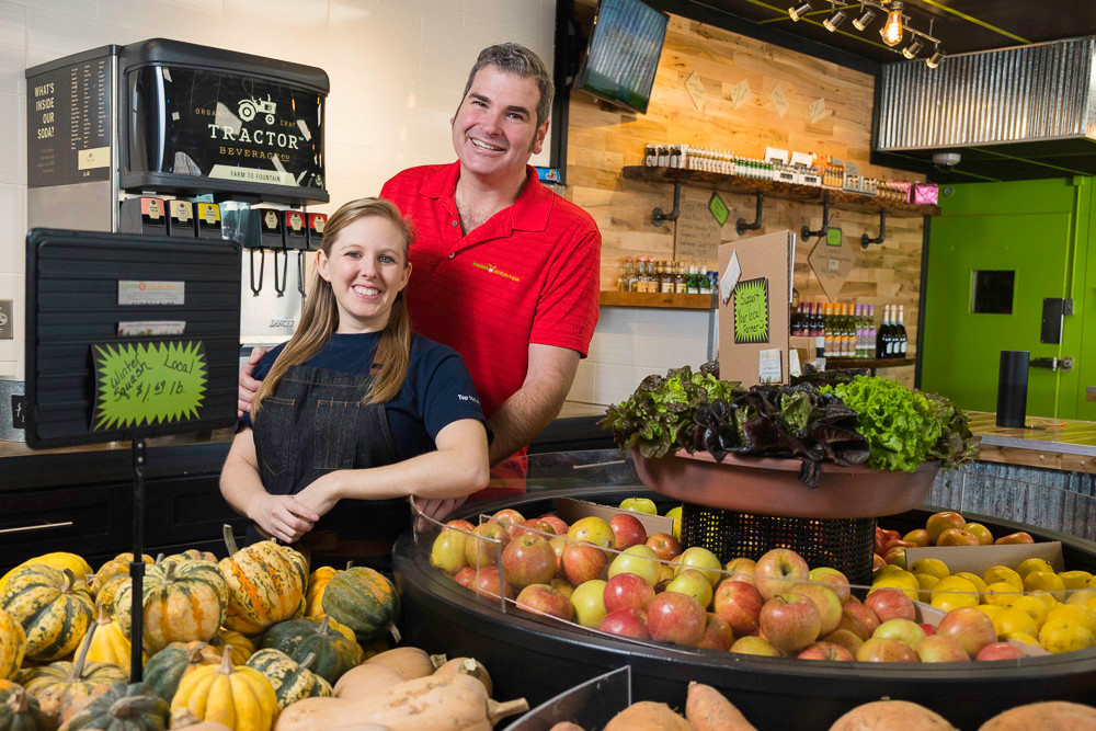 Paul and Ashely Allen opened Farm 2 Counter Inc.'s convenience store on North Broadway Avenue.