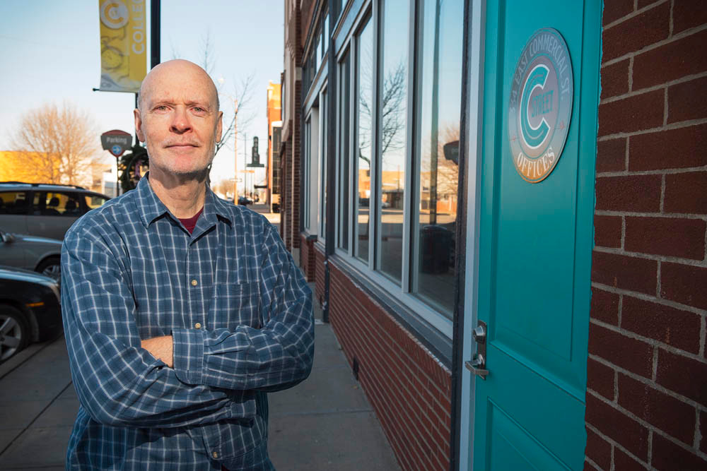 RENO READY: Joe Hosmer plans renovations on several old building on Commercial Street to meet his vision for a social district.