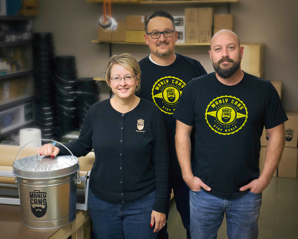 Jeni Huelskamp, left, David Messner and Adam DeVizia, co-owners