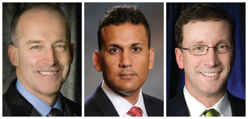 Gov. Eric Greitens appoints, left to right, Dr. John Buckner, Eric Clay and Dr. Jose Dominguez to two commissions.