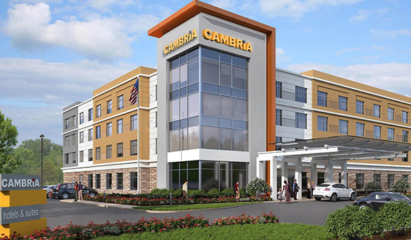 O'Reilly Hospitality Management teams with Choice Hotels to open the 35th Cambria hotel, shown in a rendering above.