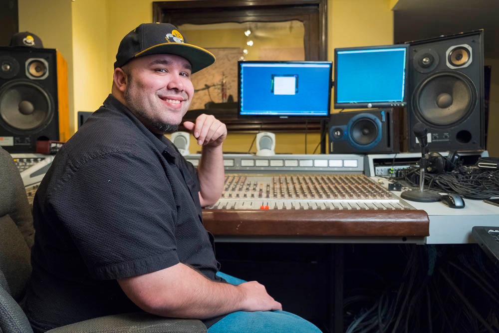 CHASING DREAMS: Former KY3 studio engineer Ricky Smiley is running a record label from his home.