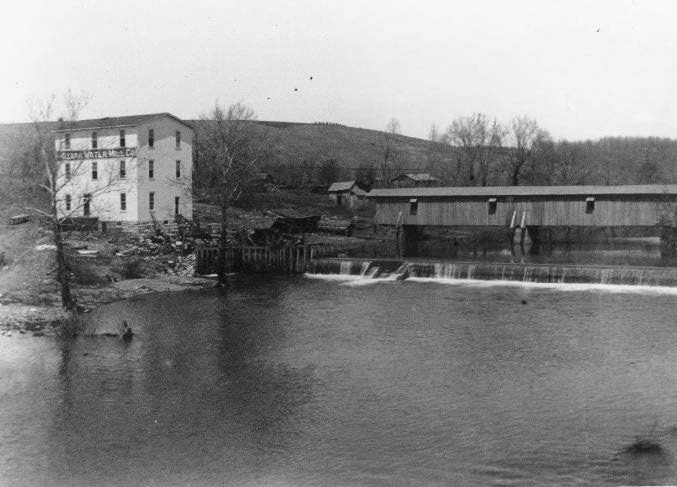 The mill on the Finley River dates back to 1833.