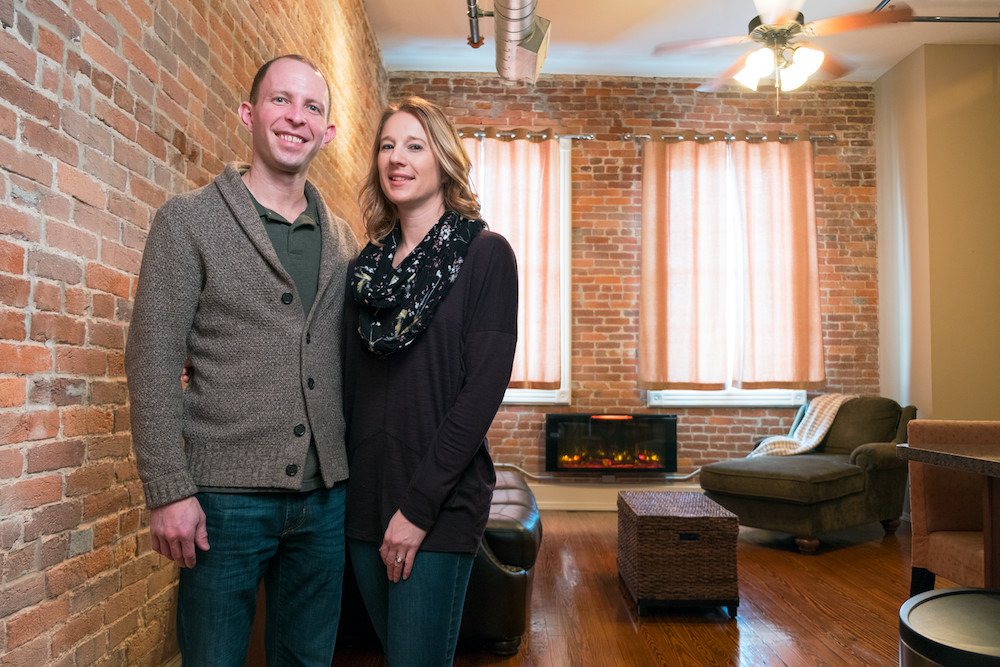 LODGING INVESTMENTS: Jonathan and Sarah Keeth are newcomers to the Airbnb business after buying a Boonville Avenue loft.