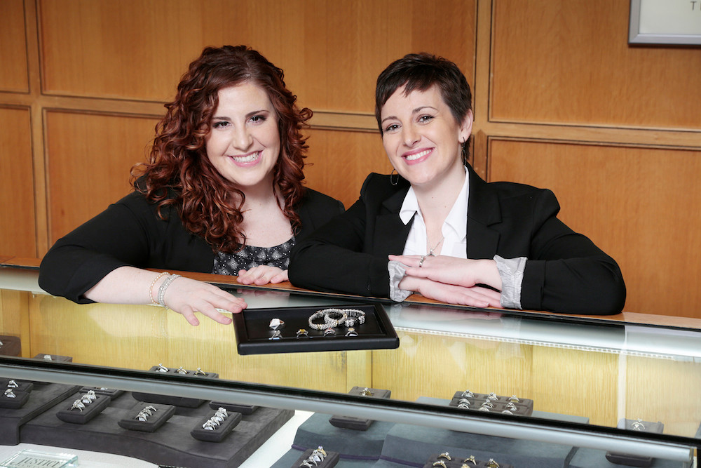 Amelia Justice, left, and Margie Justice-Pitoniak officially take the helm of Justice Jewelers after the completion of their father's succession plan.
