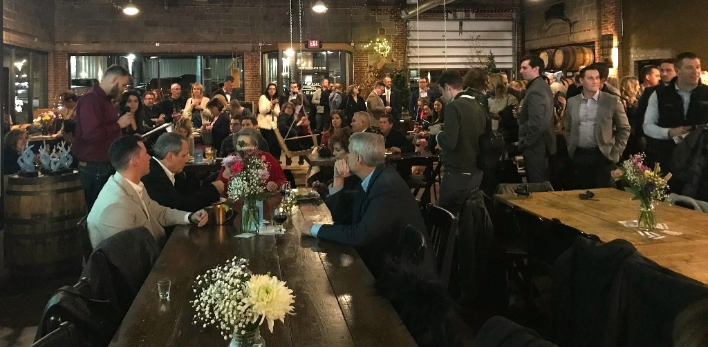 Nearly 200 people attend the first Downtown Awards and Auction event at Missouri Spirits.