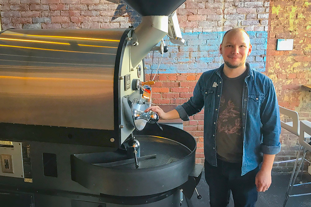 Coffee Ethic head roaster Nathan Murphy currently produces about 1,000 pounds of beans per month but has the capacity to do more.