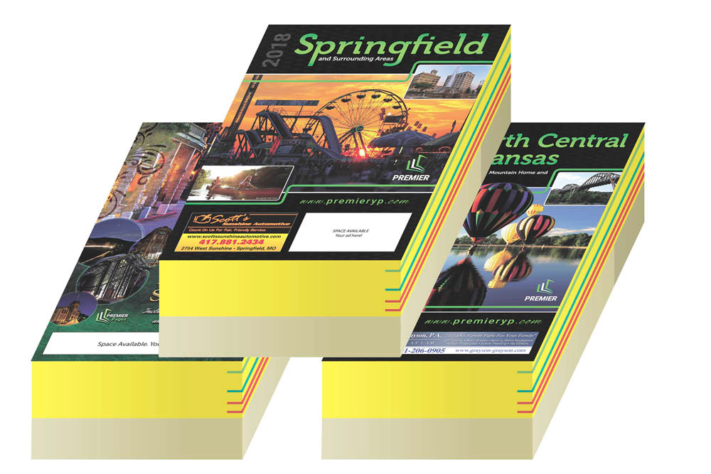 Springfield Metro Premier Directory is a new printed phone book scheduled for April delivery.