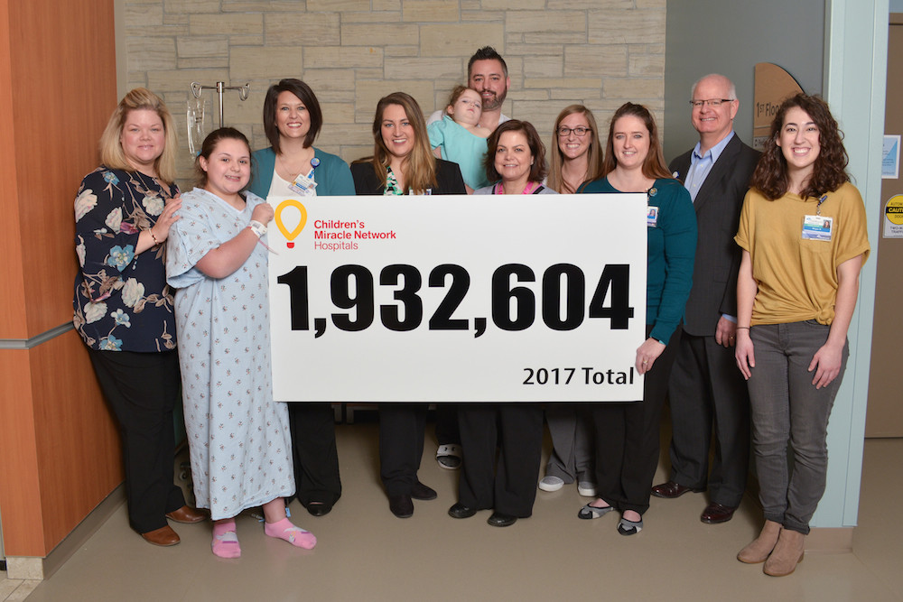 Children's Miracle Network Hospitals at CoxHealth raises more than $1.9 million in 2017.