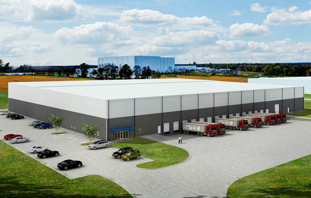 ALL BETS ON SPEC: A rendering shows the $5 million industrial speculative building planned for Garton Business Park.