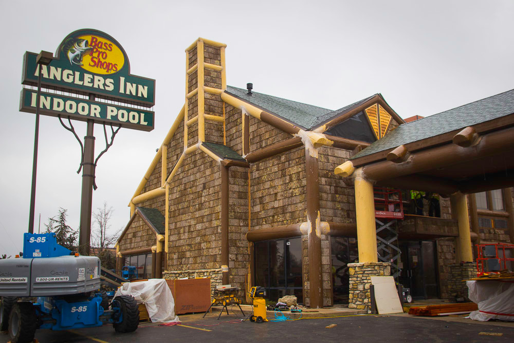 Crews are working toward a planned March 4 opening of Angler's Inn, formerly Days Inn.
