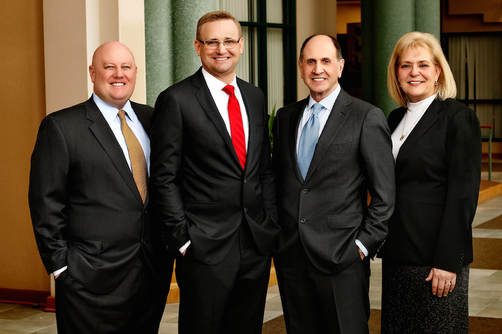 From left, former Bear State Bank executives Nick Burlison, Craig Dunn, Mike McGoldrick and Kim Cash lead Regent Bank's new Springfield branch.