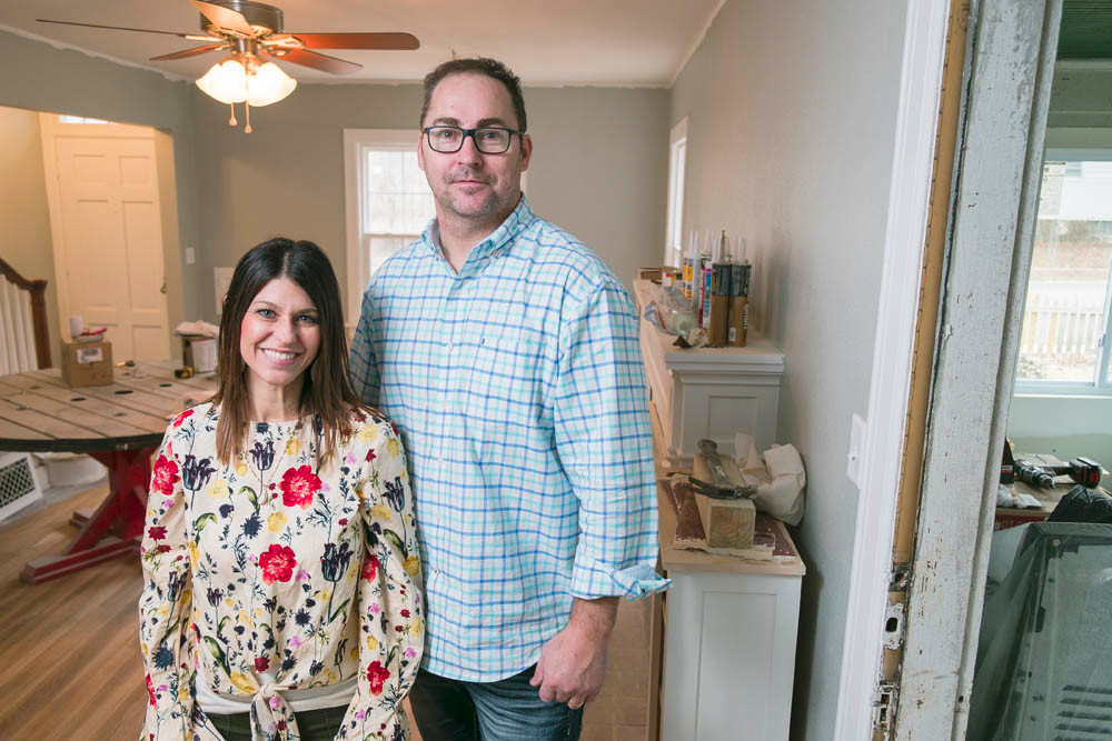SOMETHING OLD: Kim and Ryan Maddox honor history while modernizing a 1930s Carl Bissman home on Grand Street.