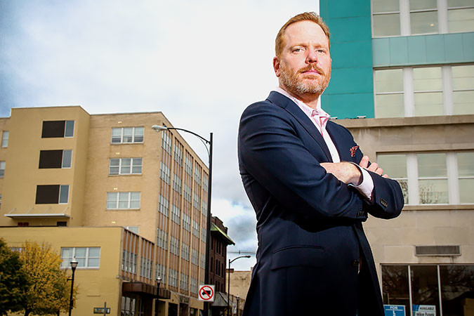 ALL OR NOTHING: Matthew Miller's Vecino Group was Springfield's 2015 Developer of the Year for its Park East redevelopment work. He says historic preservation tax credits are key to urban rehabilitation.SBJ file photo