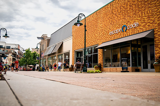 TENANT MOVES: The outdoor lifestyle center's occupancy rate is improving from last year's 86 percent.SBJ photo by WES HAMILTON