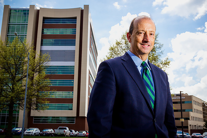 Steve Edwards has led revenue growth and the addition of the new Cox South patient tower.SBJ photo by WES HAMILTON