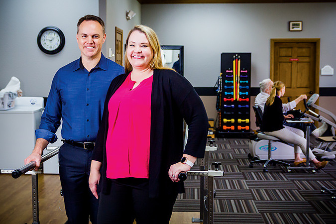 John and Bethany Ray have watched Haven Healthcare's revenue grow by 2013 percent over three years. SBJ photo by WES HAMILTON