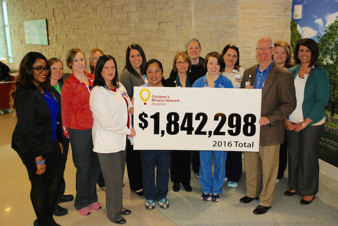 Children's Miracle Network Hospitals at CoxHealth raises more than $1.8 million in 2016.Photo provided by COXHEALTH