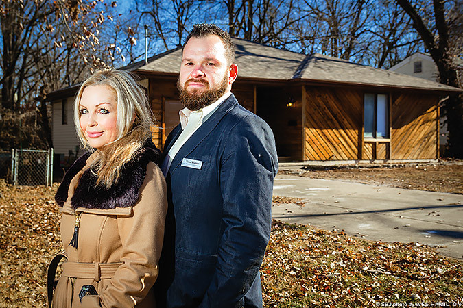 THE HOUSING NICHE: Kelly Johnson and Wess Walker flipped this central Springfield house from an overgrown mess, below, to a sellable property.
