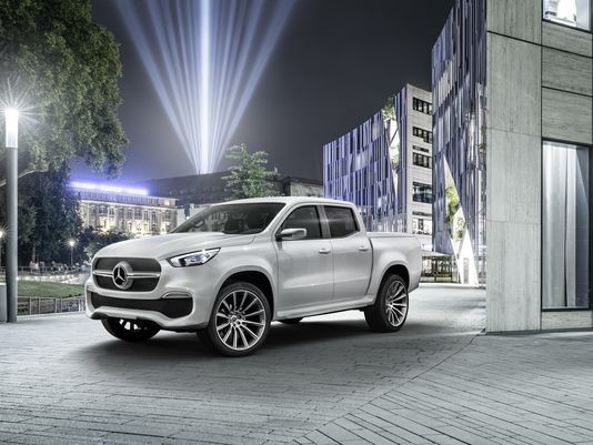 Mercedes-Benz reveals its premium pickup truck called the X-Class.Concept photo courtesy DAIMLER AG