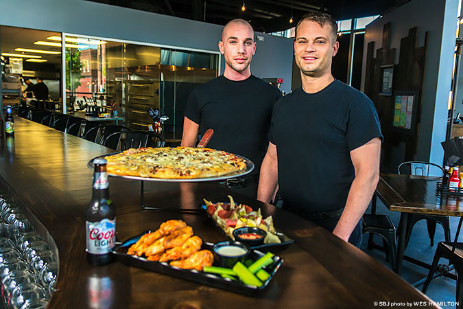College Station gains a new tenant with Calgaro's Pizzeria, run by the owners of Martha's Vineyard, Tony Rank and Allen Brown.