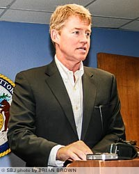 Missouri Attorney General Chris Koster held a news conference in Springfield this morning to announce his office reached a settlement with Tyson Foods over a May wastewater discharge lawsuit in Monett.