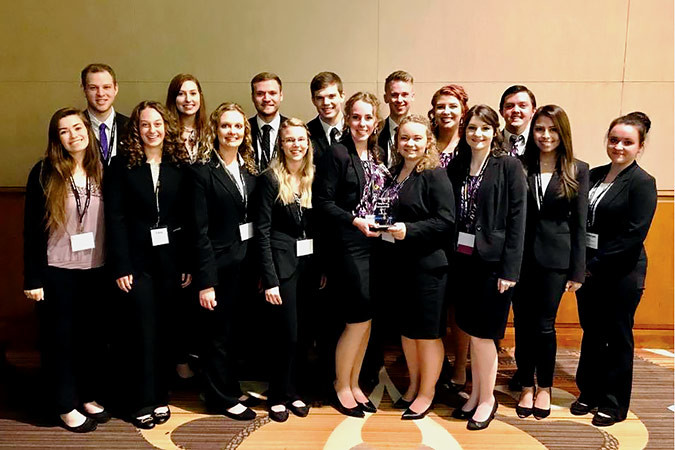 The Enactus team from Southwest Baptist University walked away as a regional champions during an April 10 competition in Dallas. The team will move on to the national exposition May 21-23 at the Kansas City Convention Center to compete against 120 other universities.Photo provided by  SOUTHWEST BAPTIST UNIVERSITY