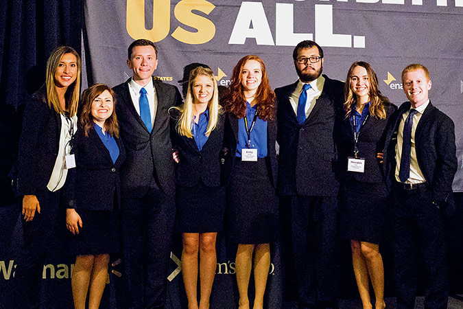 The Enactus team from Evangel University walked away as a regional champions during an April 10 competition in Dallas. The team will move on to the national exposition May 21-23 at the Kansas City Convention Center to compete against 120 other universities.Photo provided by  EVANGEL UNIVERSITY