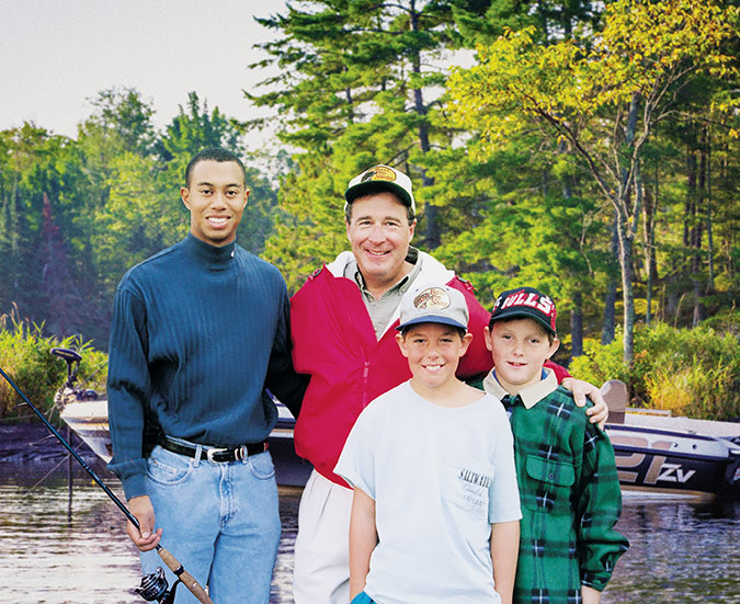 Tiger Woods and Johnny Morris' friendship began 20 years ago on a fishing escapade. After winning his first Masters Tournament in 1997, Woods bought a bass tracker boat and Morris hand-delivered it. Naturally, a fishing trip ensued. Today, the friends are collaborating on a new golf course in Branson.Photo provided by BIG CEDAR LODGE