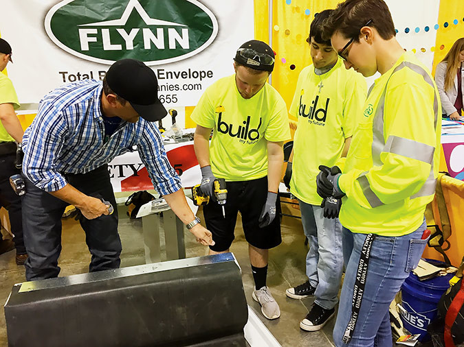 More than two dozen area construction and workforce development organizations partnered for the first ever Build My Future event April 12. Some 900 high school students from 10 counties got the chance to interact with 50 booths and experience the construction industry hands-on.Photo provided by CHARLYCE RUTH