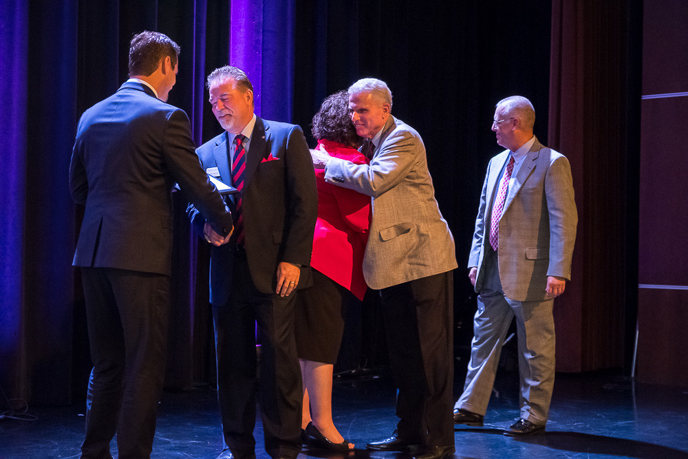 Roughly 275 people attended Springfield Business Journal's 2017 Economic Impact Awards. Prime Inc. founder Robert Low accepted the Lifetime Achievement in Business award, and top honors also were crowned in four company categories. Individual awards also were given out.SBJ photo by WES HAMILTON