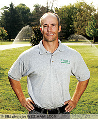 Sprinkler installactions account for 30 percent of revenue for Watersmith Irrigation, where Ryan Rook has added architectural and landscape lighting and lawn treatment services in his first year as owner.