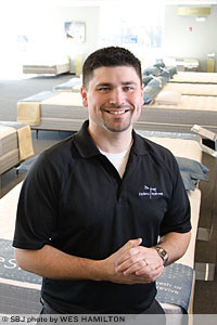 Joplimo Mattress owner Brian Croft is leaning on his experience working for Leggett & Platt Inc. in Carthage, and 80 percent of his company's mattress components are made by his former employer.