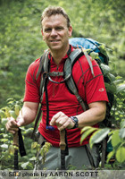 Dan nash got his start as a trail guide in the Ozarks and has expanded his talents to a national clientele. Above, he hikes at Busiek State Forest.