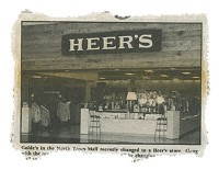 Now a boarded up vacant building, Heer's was once a thriving retail store downtown.