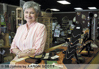 Karen Eagles is the owner and sole employee of Anna Sophia's, a Springfield retail shop specializing in fair-trade merchandise. Eagles is a retired Missouri State University professor.