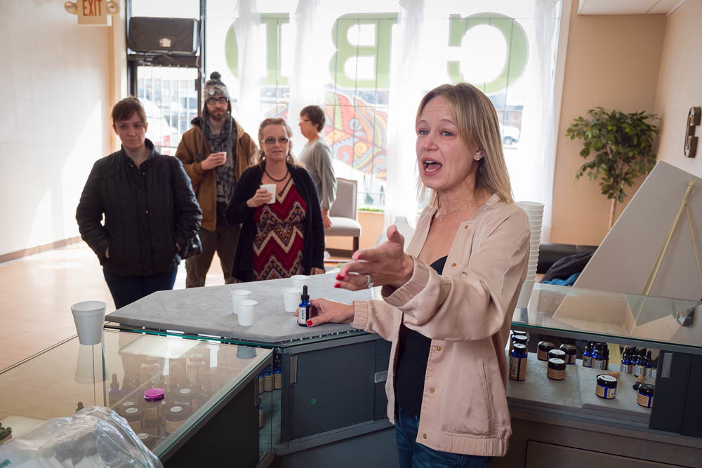 OPEN FOR BUSINESS: Emily Christianson is in her fourth month selling cannabidiol products at CBD of Springfield.