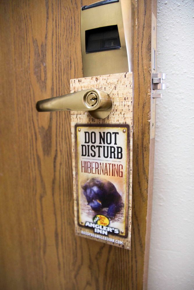 Wildlife themes are around every corner – down to the door hangers on one of the 67 rooms.