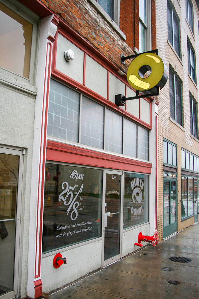Hurts Donut's flagship store is down the block from the new hot dog venture.
