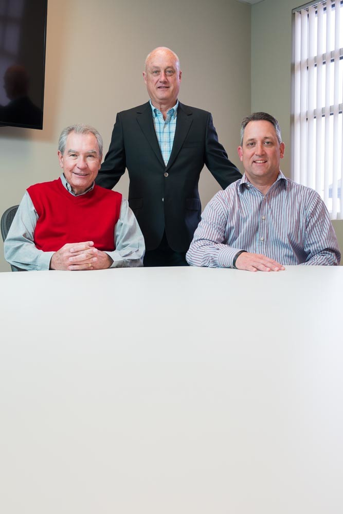UP TO CODE: Left to right, Stephen Sheppard, Bill Rabourn and Rob McCarville are working to help firms ensure they are HIPAA compliant.