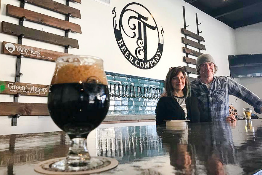 Curtis Marshall and Jennifer Leonard today launch Tie & Timber Beer Co. with 10 beers after an April 6 tasting event. A grand opening is scheduled on April 14.