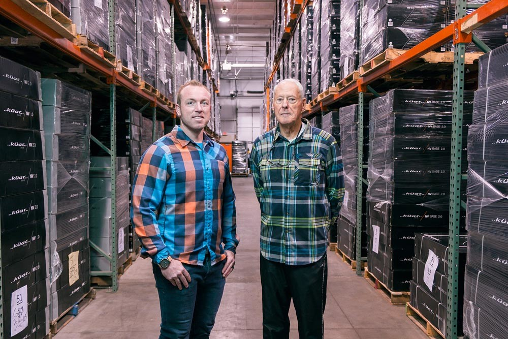 RACKED: Co-owners Luke Kuschmeader, left, and Guy Mace say Kuat Innovations LLC has outgrown its fourth location.