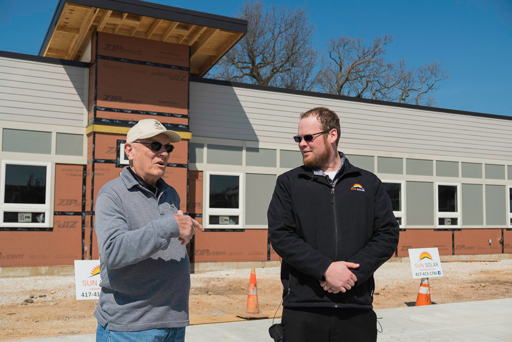 Eden Village's Dr. David Brown and Sun Solar CEO Caleb Arthur discuss plans to power the tiny homes community.