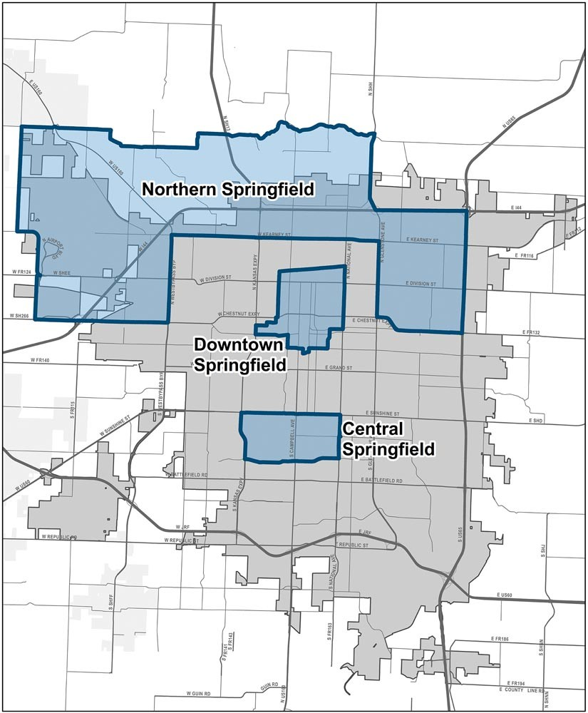 Three broad areas include 10 individual census tracts now federally certified as opportunity zones.