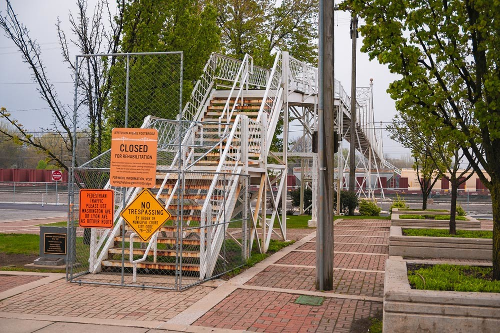 NEXT STEP: The Jefferson Avenue Footbridge is in line for renovations, includes updates to meet the Americans with Disabilities Act.