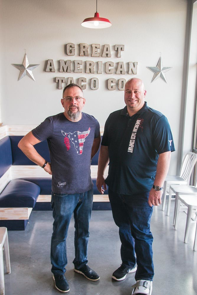 Pat Duran, left, and Tyler Thompson, Great American Taco Co.