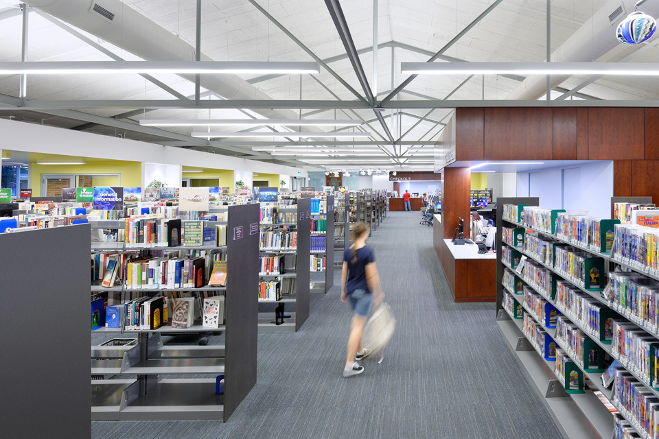 The U.S. Green Building Council recognizes the Schweitzer Brentwood Branch Library for its environmentally friendly features.