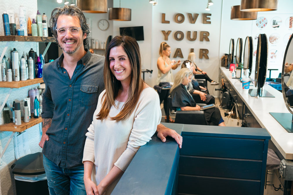 IN STYLE: Studio 417 owners Paul and Hannah Catlett plan to move their salon this fall.